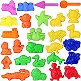 TOYANDONA 27 Stück Kinder Strand Spielzeug Set Sand Formspielzeug Tier Sandformen Pädagogische Spaß Spielzeug für Jungen Mädchen