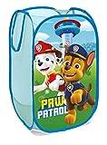 SUPERDIVER Faltbarer Pop-Up Korb für Kinder mit Griffen – Paw Patrol-Motiv I Wäschekorb I Organisationskorb für Kleidung und Spielzeug (58 x 36 x 36) Kinderzimmer I Behälter für Mädchenzimmer