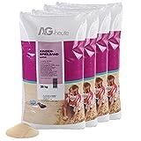 A&G-heute 100kg Spielsand Quarzsand für Kinder Sandkasten Dekosand geprüft gesiebt top Farbe beige Qualität