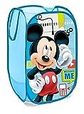 SUPERDIVER Faltbarer Pop-Up Korb für Kinder mit Griffen – Disney Micky Maus-Motiv I Wäschekorb I Organisationskorb für Kleidung und Spielzeug (58 x 36 x 36) Kinderzimmer I Behälter für Mädchenzimmer