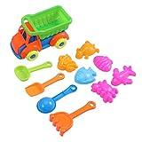 Toyvian Kinder Strand Spielzeug Set Kunststoff sandkasten Spielzeug Kleinkind Strand Sand Spielzeug Pool Bad spielsets einschließlich Sand LKW Formen 11 stücke
