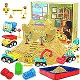 CROSOFMI Magic Sand Für Kinder Set Spielsand Faltbarer Sandkasten für Jungen Mädchen 3 4 5 6 7+ Jahre Alt